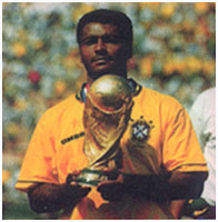 Romario holds the Wold Cup